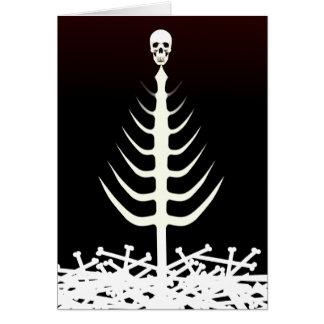 Weihnachtsskelett-Baum Grußkarte
