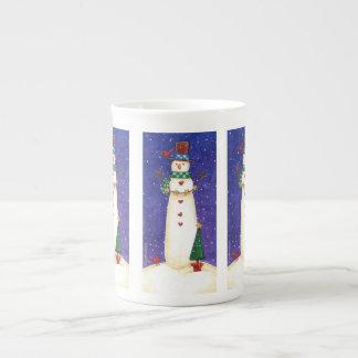 Weihnachtssnowman-Tasse Prozellantasse