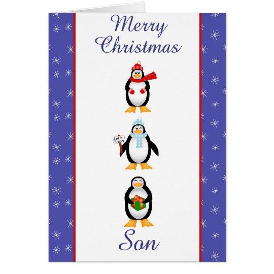 Weihnachtssohn-Grußkarte Karte