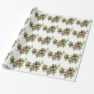 Weihnachtsstechpalme Geschenkpapier