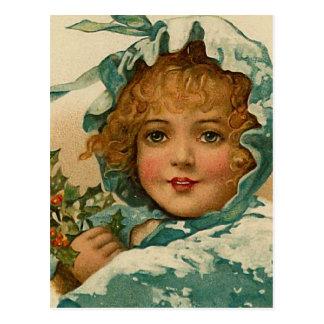 """Weihnachtsstechpalme"" Vintag Postkarte"