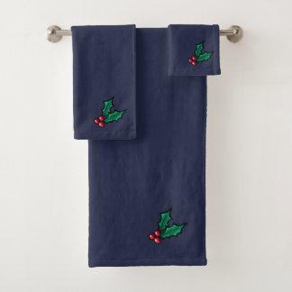 Weihnachtsstechpalmen-Tuch-Set Badhandtuch Set