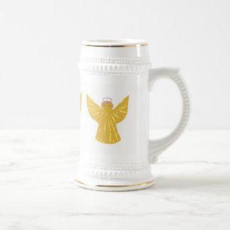 Weihnachtsstein-Tassen-Engel kundenspezifisch Bierglas