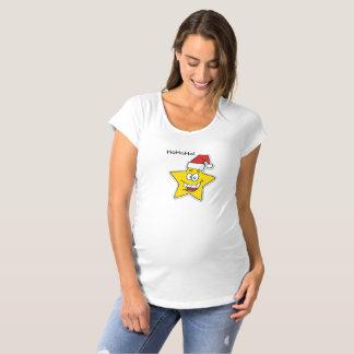 Weihnachtsstern-Mutterschafts-Shirt Umstands-T-Shirt