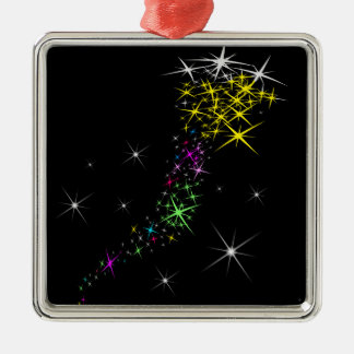 Weihnachtsstern Silbernes Ornament