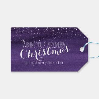 Weihnachtssternenklarer Himmels-Geschenkumbau Geschenkanhänger