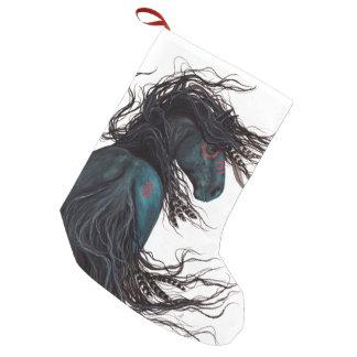 WeihnachtsStrumpf majestätisches Friesin Pferd Kleiner Weihnachtsstrumpf