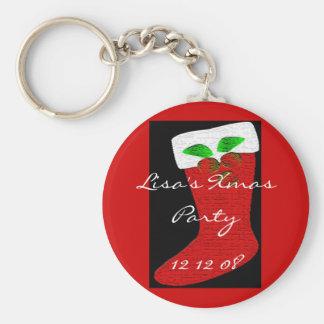 WeihnachtsStrumpf Schlüsselanhänger