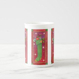 WeihnachtsStrumpf-Tasse Prozellantasse