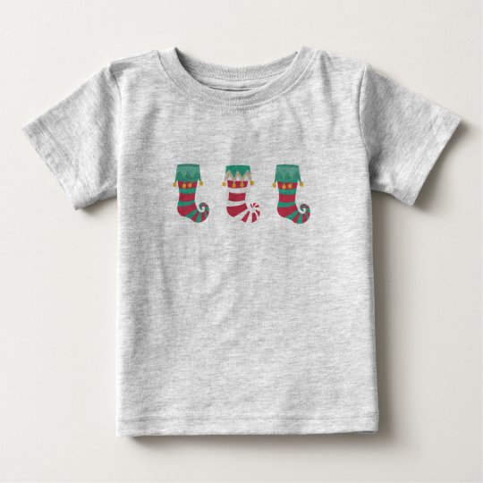 WeihnachtsStrümpfe Umgriffs Baby T-shirt