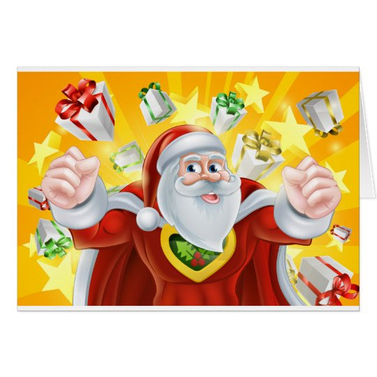 WeihnachtsSuperheld Weihnachtsmann Grußkarte