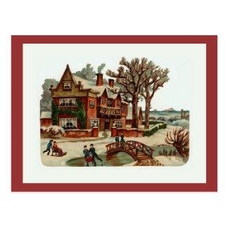"""""""Weihnachtsszenen-"""" Vintage Postkarte"""