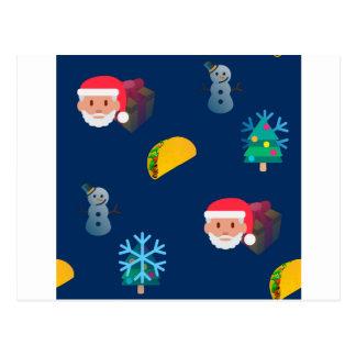 Weihnachtstaco emoji postkarte