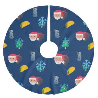 Weihnachtstaco emoji Weihnachtsbaumrock 2 Polyester Weihnachtsbaumdecke