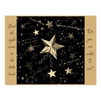 Weihnachtstanzen-Stern Postkarte
