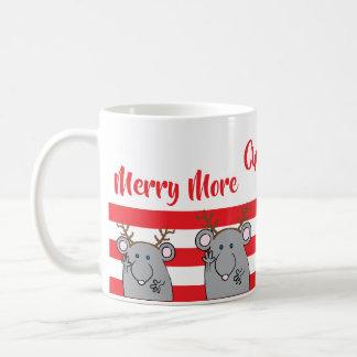 """WeihnachtsTasse """"fröhlich mehr Christmouses zum zu Kaffeetasse"""