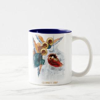 WeihnachtsTasse - Weltfrieden-orthodoxes Geschenk Zweifarbige Tasse