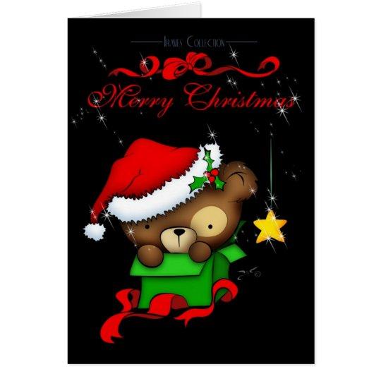 WeihnachtsTeddybär-Kasten Grußkarte