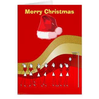 WeihnachtsthemaNetball Karte