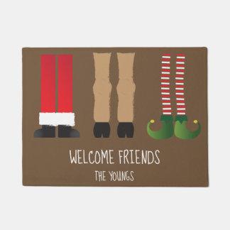Weihnachtsthemenorientierte Fußmatte mit Türmatte