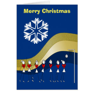 Weihnachtsthemenorientierter Netball Grußkarte
