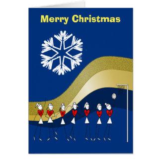 Weihnachtsthemenorientierter Netball Karte