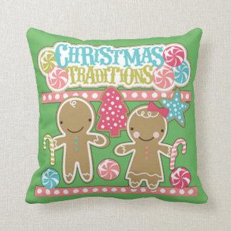 Weihnachtstraditionen Kissen