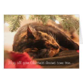 Weihnachtsträume, Schlafenkaliko, personifizieren Grußkarte