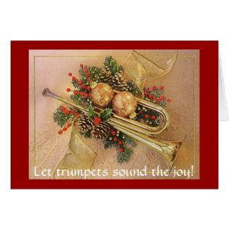 Weihnachtstrompete, ließ Trompeten die Freude Karte