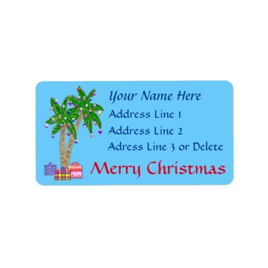Weihnachtstropische Adressen-Etiketten mit IHREM Adressaufkleber