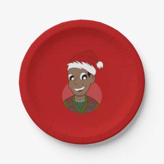WeihnachtsTyp-Cartoon Pappteller