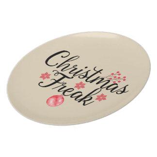 Weihnachtsungewöhnliche Typografie Teller