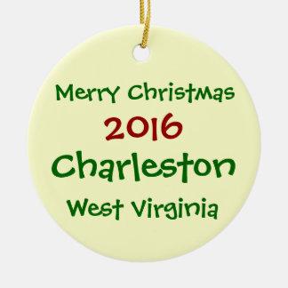 WEIHNACHTSverzierung 2016 CHARLESTONS WEST Keramik Ornament