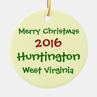 WEIHNACHTSverzierung 2016 HUNTINGTONS WEST Keramik Ornament