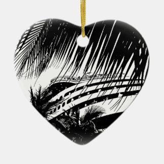 Weihnachtsverzierung der Kreuzschiff-Ferien-| Keramik Herz-Ornament