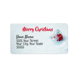 Weihnachtsverzierung im Schnee-Adressen-Etikett Adressaufkleber