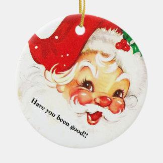 Weihnachtsverzierung Weihnachtsmann Keramik Ornament