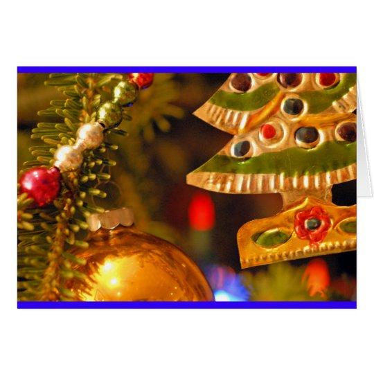 Weihnachtsverzierungen Grußkarte
