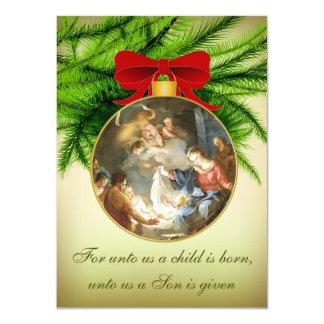 Weihnachtsverzierungs-Geburt Christis-Jesus-Geburt 11,4 X 15,9 Cm Einladungskarte