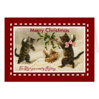 WeihnachtsVintage Karten-frohe Karte