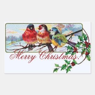 Weihnachtsvogel-Aufkleber