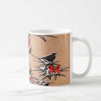Weihnachtsvögel und -bögen kaffeetasse
