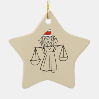 Weihnachtswaage-Astrologie-Zeichen-roter Stern Keramik Stern-Ornament