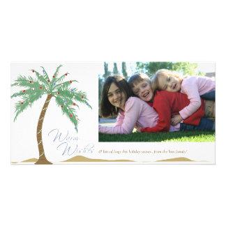 Weihnachtswarme Wünsche, Palme-Strand Karte