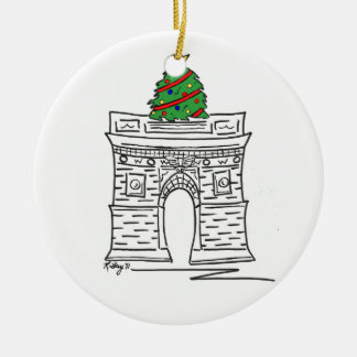Weihnachtswashingtons New York City NYC Keramik Ornament
