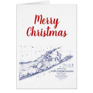 Weihnachtsweihnachten Long Island die Hamptons Karte