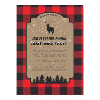 Weihnachtswinter-rustikale Rotwild-Party Einladung