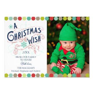 Weihnachtswunsch-Feiertag Groupon Foto-Karten Ankündigungskarte