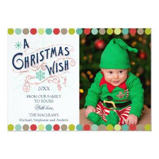 Weihnachtswunsch-Feiertags-Foto-Karten Individuelle Ankündigungen