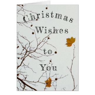 Weihnachtswünsche Karte